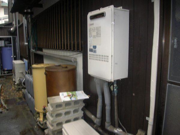 琴平町でノーリツ給湯器の取替・交換工事