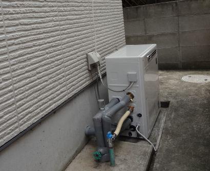 丸亀市 ガスふろ給湯器 交換