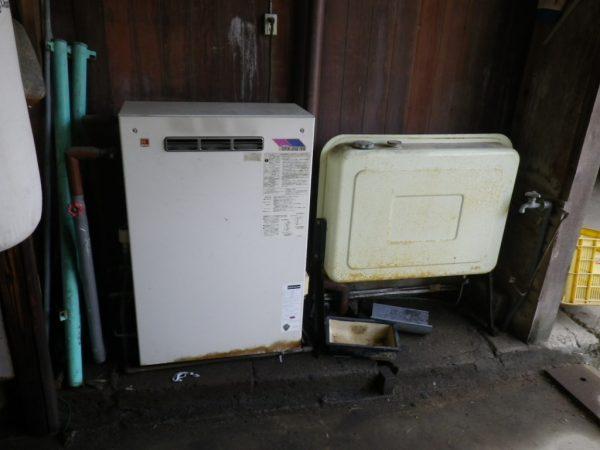 三豊市 長府製作所石油給湯器取替