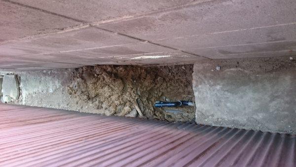 坂出市内で漏水調査を行い修理完了しました。