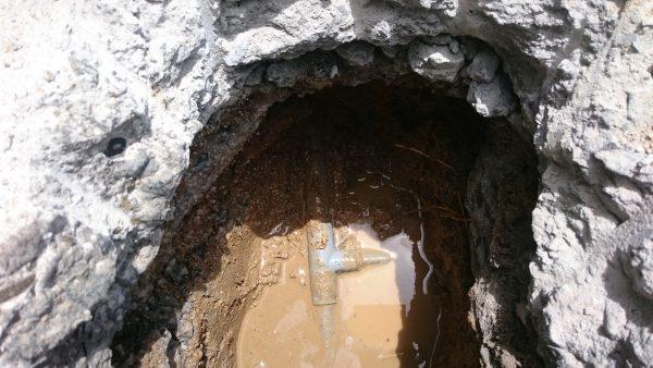 三豊市内で漏水調査を行い修理完了