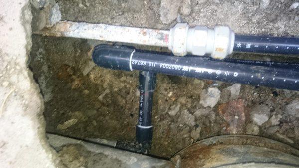 丸亀市内で漏水調査を行い修理完了!!