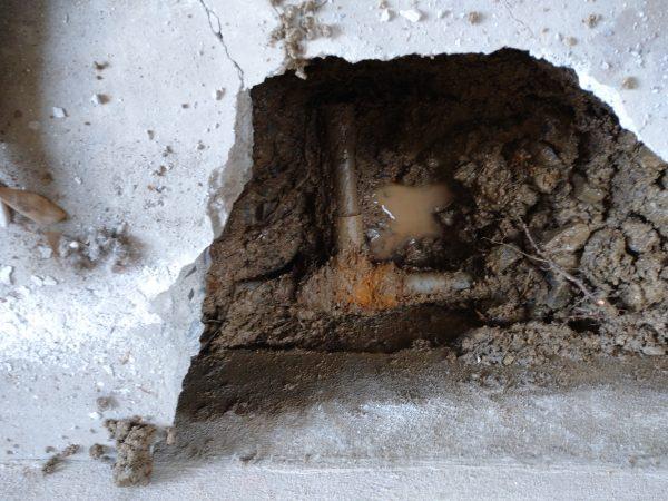 丸亀市内で漏水調査を行い修理完了