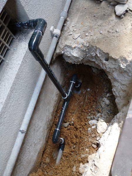 善通寺市内で漏水調査を行い修理完了