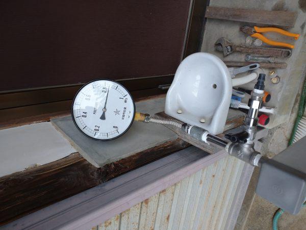 三豊市内で最高水圧の漏水箇所を特定