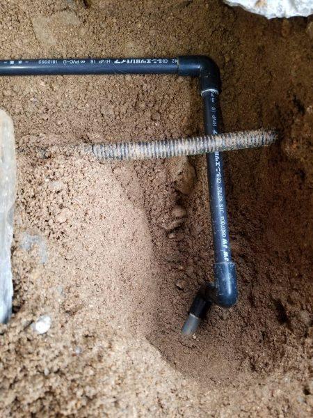 多度津町内で漏水箇所を修理