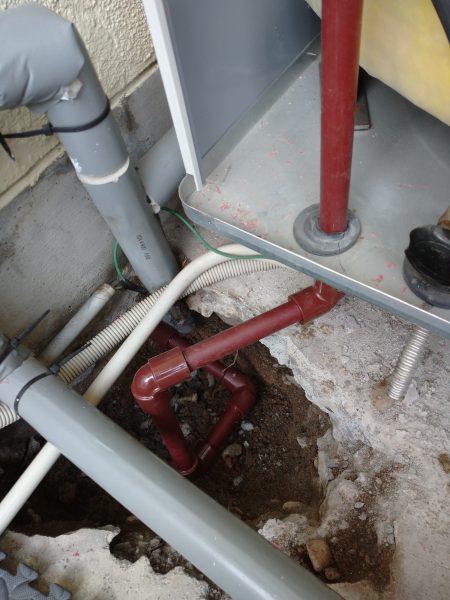 善通寺市内で給湯配管の漏水修理